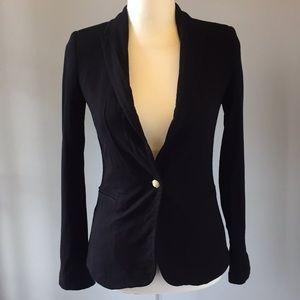 zara basic black blazer size xs